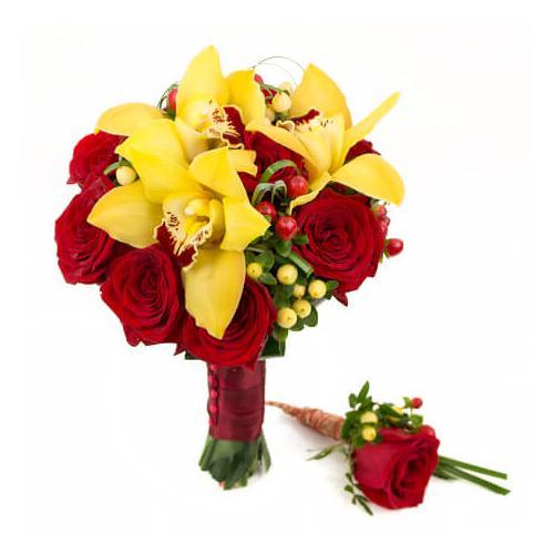 Розы, орхидеи и гиперикум