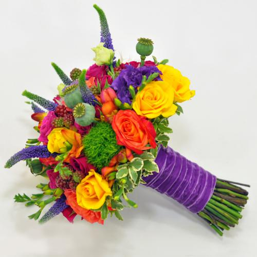 Яркий разноцветный букет